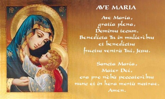 Risultati immagini per ave maria testo italiano preghiera