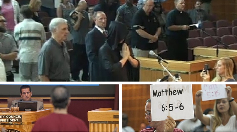 """Cattolici e protestanti fermano la """"preghiera pubblica"""" dei satanisti inUsa"""