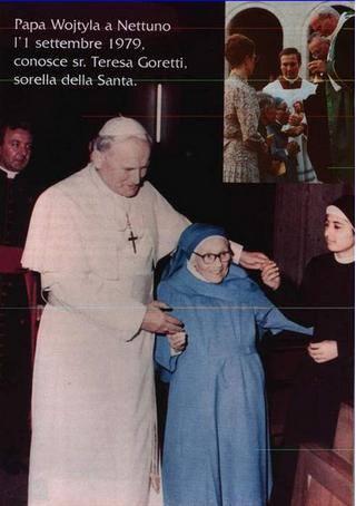 GIOVANNI PAOLO II sorella di S.Maria Goretti