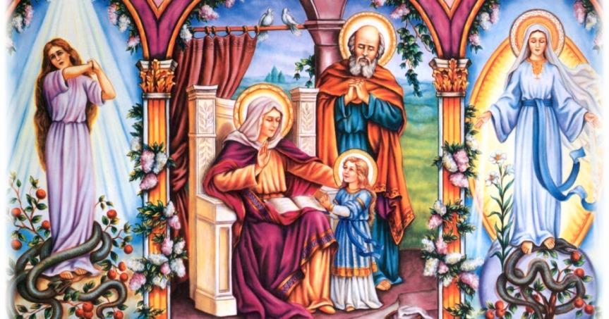Santi Anna e Gioacchino, genitori di Maria Santissima e nonni diGesù