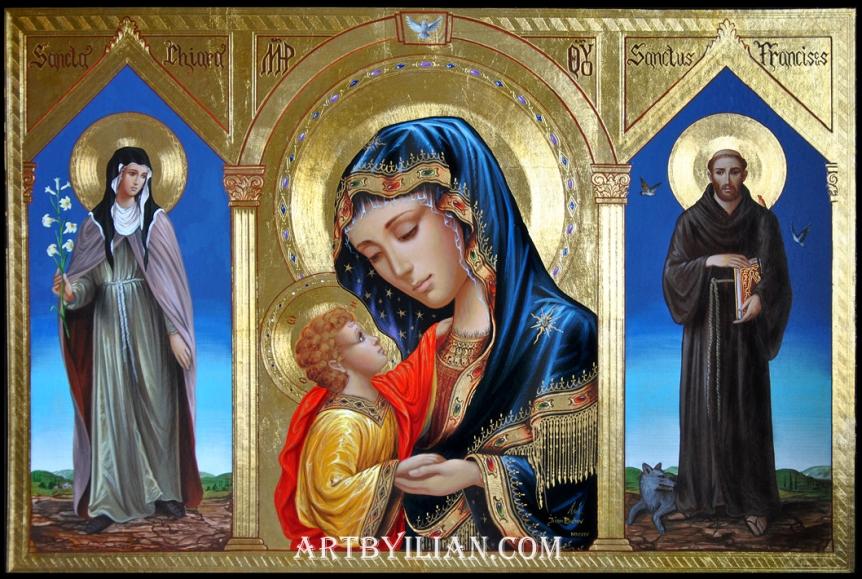 1-santa-chiara-la-madonna-e-san-francesco-d-assisi