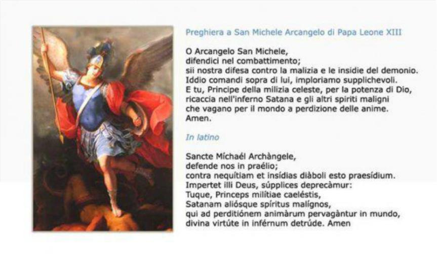 Risultati immagini per SAN MICHELE ARCANGELO PREGHIERA