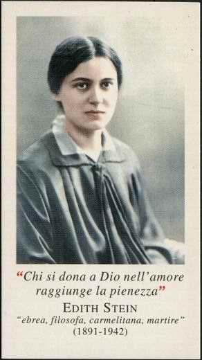S. Teresa Benedetta della Croce,(Edith Stein), Compatrona d'Europa, martire per laVerità