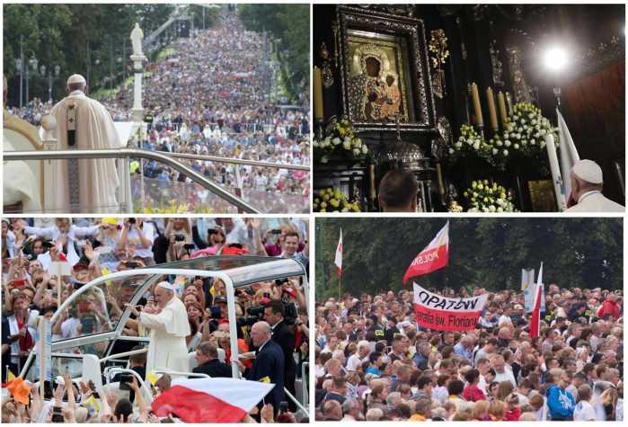 """""""La Polonia oggi ricorda a tutta l'Europa che non può esserci futuro per il continente senza i suoi valori fondanti, che hanno al centro la visione cristiana dell'uomo. Il mondo è crudele, ma la misericordia di Dio è più forte."""" PapaFrancesco."""
