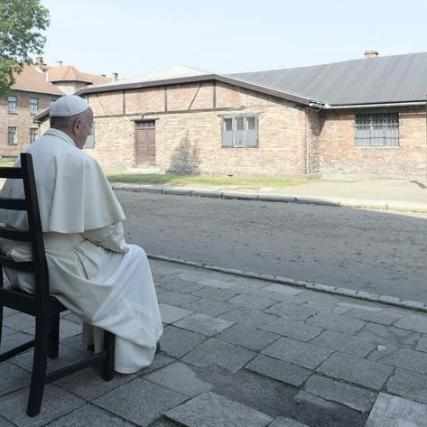 Pope Francis in Auschwitz