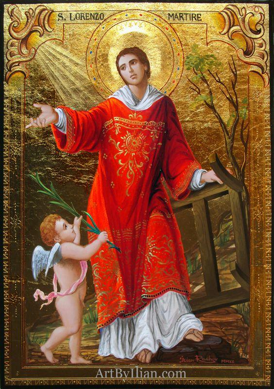 La gloria di San Lorenzo, diacono emartire