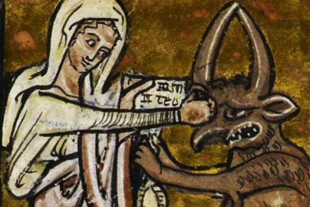 """""""Seguire la fede eroica di Maria, che colpisce il diavolo sul naso."""" Preghiere a Santa Maria delSoccorso."""
