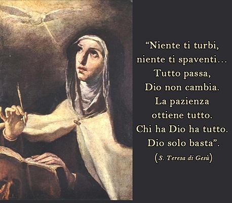 I consigli di Santa Teresa d'Avila per il combattimento spirituale e le sue  visioni degli Angeli di Dio – No al satanismo