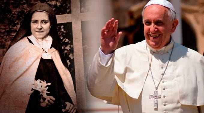 """L'appello del Papa: """"Seguiamo la 'piccola via' di Santa Teresina"""". La particolare devozione del Papa per laSanta"""