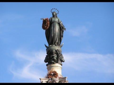 La preghiera del Papa ai piedi dell'Immacolata