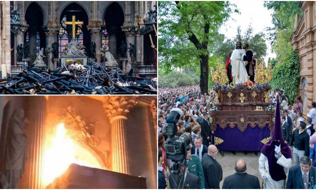 Un jihadista marocchino pianifica di immolarsi a Siviglia durante la Settimana Santa, 48 ore dopo l'incendio di NotreDame.