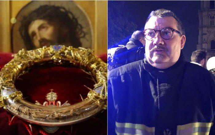 Il sacerdote che nell'incendio di Notre Dame ha salvato la Corona di Spine di Cristo e il SantissimoSacramento
